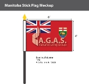 Manitoba Stick Flags 4x6 inch