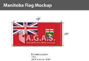 Manitoba Flags 2x4 foot (Official ratio 1:2)