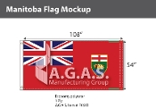 Manitoba Flags 54x108 inch (Official ratio 1:2)