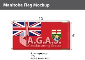 Manitoba Flags 5x10 foot (Official ratio 1:2)