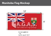 Manitoba Flags 6x12 foot (Official ratio 1:2)