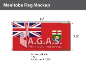 Manitoba Flags 7.5x15 foot (Official ratio 1:2)
