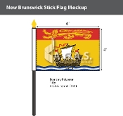 New Brunswick Stick Flags 4x6 inch