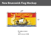 New Brunswick Flags 12x24 inch