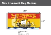 New Brunswick Flags 54x108 inch