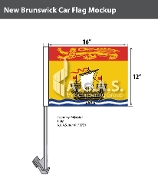 New Brunswick Car Flags 12x16 inch Economy