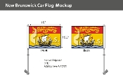 New Brunswick Car Flags 10.5x15 inch Premium
