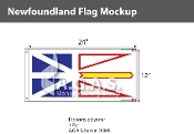 Newfoundland Flags 12x24 inch (Official ratio 1:2)