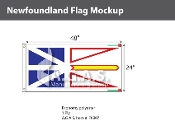 Newfoundland Flags 2x4 foot (Official ratio 1:2)