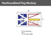 Newfoundland Flags 3x5 foot