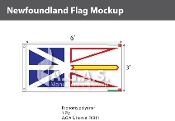 Newfoundland Flags 3x6 foot (Official ratio 1:2)