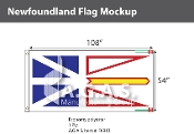 Newfoundland Flags 54x108 inch (Official ratio 1:2)