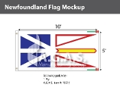 Newfoundland Flags 5x10 foot (Official ratio 1:2)