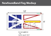 Newfoundland Flags 6x12 foot (Official ratio 1:2)