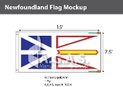 Newfoundland Flags 7.5x15 foot (Official ratio 1:2)