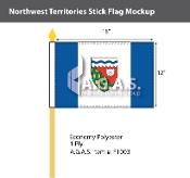 Northwest Territories Stick Flags 12x18 inch