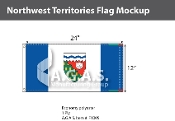 Northwest Territories Flags 12x24 inch (Official ratio 1:2)
