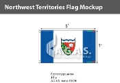 Northwest Territories Flags 3x5 foot
