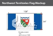 Northwest Territories Flags 54x108 inch (Official ratio 1:2)