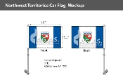 Northwest Territories Car Flags 10.5x15 inch Premium