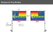 "New Old Glory Pride  Car Flag 10.5""X15"""