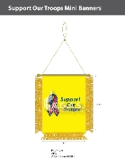 Support Our Troops Mini Banners 4.75x3.5 inch