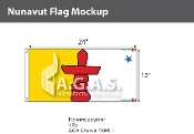 Nunavut Flags 12x24 inch (Official ratio 1:2)