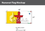 Nunavut Flags 2x4 foot (Official ratio 1:2)