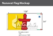 Nunavut Flags 54x108 inch (Official ratio 1:2)