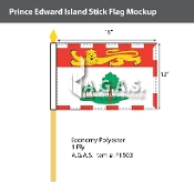 Prince Edward Island Stick Flags 12x18 inch