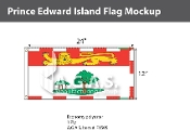 Prince Edward Island Flags 12x24 inch (Official ratio 1:2)