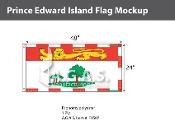 Prince Edward Island Flags 2x4 foot (Official ratio 1:2)