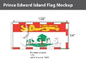 Prince Edward Island Flags 54x108 inch (Official ratio 1:2)