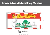 Prince Edward Island Flags 5x10 foot (Official ratio 1:2)