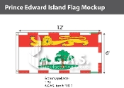 Prince Edward Island Flags 6x12 foot (Official ratio 1:2)