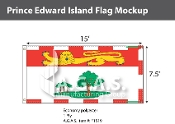 Prince Edward Island Flags 7.5x15 foot (Official ratio 1:2)