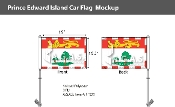 Prince Edward Island Car Flags 10.5x15 inch Premium
