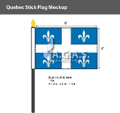 Quebec Stick Flags 4x6 inch