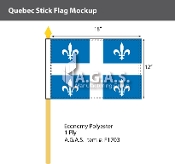 Quebec Stick Flags 12x18 inch