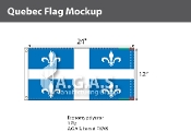 Quebec Flags 12x24 inch