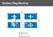Quebec Flags 3x6 foot