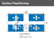 Quebec Flags 6x12 foot