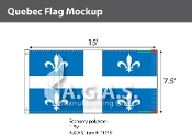 Quebec Flags 7.5x15 foot