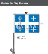 Quebec Car Flags 12x16 inch Economy