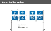 Quebec Car Flags 10.5x15 inch Premium