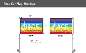 "Rainbow Pace Car Flag 10.5""X15"""