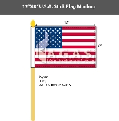 USA Stick Flags 8x12 inch