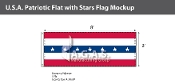 USA Patriotic Flats with stars 3x8 foot