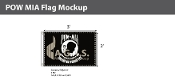 POW MIA Flags 2x3 foot (black & white)