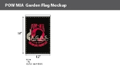 POW MIA Garden Flags 18x12 inch (black & red)